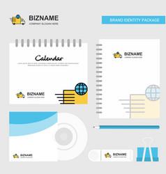 transport logo calendar template cd cover diary vector image