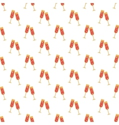 Two glasses pattern seamless vector image
