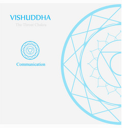 Vishuddha- the throat chakra vector