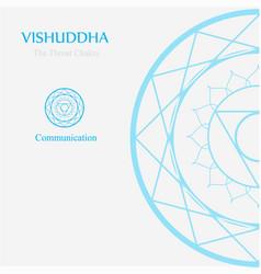Vishuddha- throat chakra vector