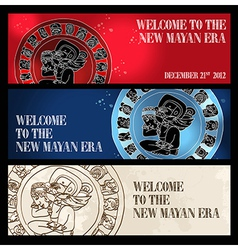 Welcome new Mayan era banner vector image