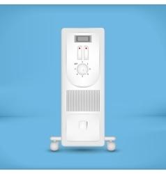 White coastal electric heater vector