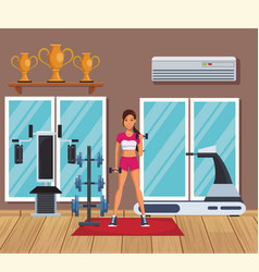 Young and fitness woman vector