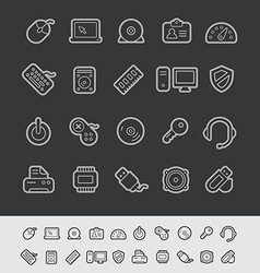 Computer Devices Black Line vector image vector image