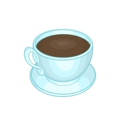 Cup of coffee icon cartoon style vector image vector image