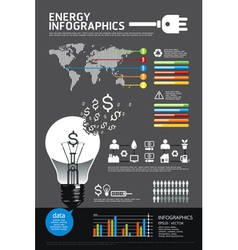 energy info graphic vector image vector image