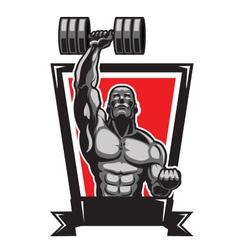 Muscular Body Builder vector image vector image