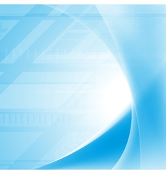 Vibrant blue tech waves background vector image vector image