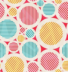 vintage colored circle seamless texture vector image vector image