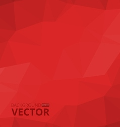 Abstract polygonal red background vector image vector image
