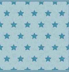 Blue denim starry jeans seamless pattern vector