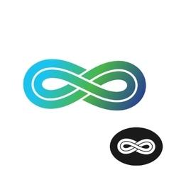 Color infinity logo vector image vector image