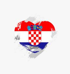 Flag of croatia vector