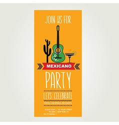 Invitation Mexican partyTypography vector image