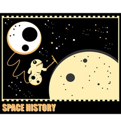 space history vector image