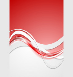 Bright red wavy abstract background vector image vector image
