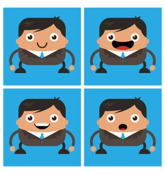 Business men with black suit and tie vector image vector image