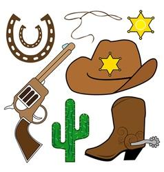 cowboy design elements vector image