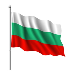 Flag of Bulgaria vector image vector image