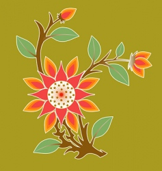 floral expression vector image vector image