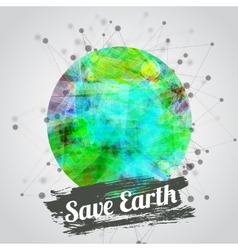modern for earth day with vector image vector image
