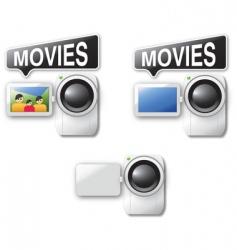 video cameras vector image vector image