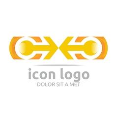 Arrow letter c orange design symbol vector
