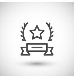 Award line icon vector