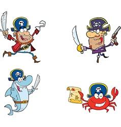 Cartoon pirates vector image