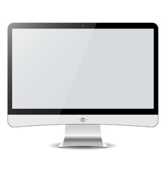 Computer display isolated on white in imac style vector image vector image