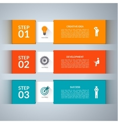 Infographic design template with marketing icons vector image