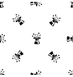 magic hat with stars pattern seamless black vector image vector image