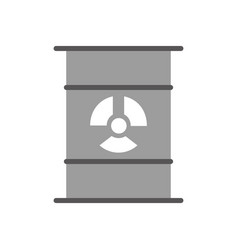 nuclear barrel isolated icon vector image