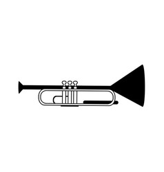 Trumpet musical instrument icon image vector
