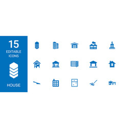 15 house icons vector