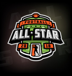 All stars football logo emblem vector