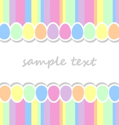 Baby background with two lines pastel colors vector