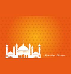 Background of ramadan kareem greeting card vector