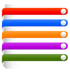 Banner bookmark backgrounds from edge of a page vector