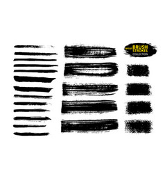 black ink brush strokes thin dirty vector image