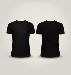 black men T-shirt isolated vector image