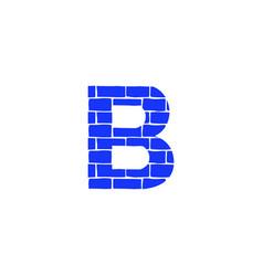 Brick logo letter b vector