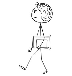 cartoon genius or brilliant man or scientist vector image