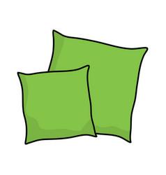 Cartoon pillow symbol icon design vector