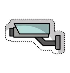cctv camera security icon vector image