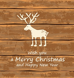 Christmas funny deer vector