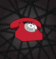 Classic wire telephone vector