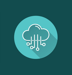 Cloud computing - icon for graphic and web vector