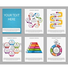 Collection of colorful infographics Design vector image