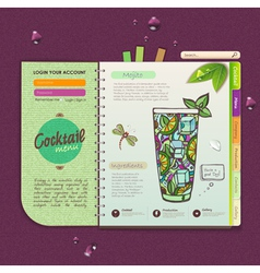 Decorative cocktail menu vector